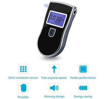 Compact LCD Personal Breathalyzer With Sensor