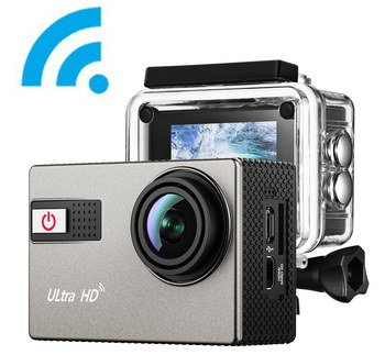 HD Waterproof Video Camera In Black And Grey