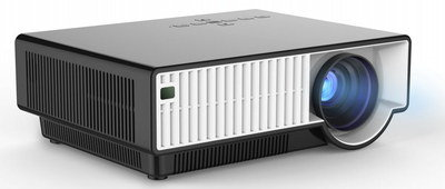 High-Definition Media Projector In Black Casing