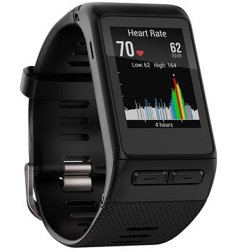 GPS Watch With Monitor Showing Colour HR Graph
