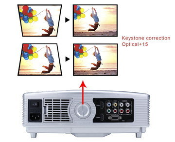 Small HD Outdoor Video Projector With White Exterior