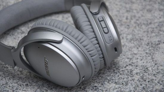 Grey Headphones With Volume Switch