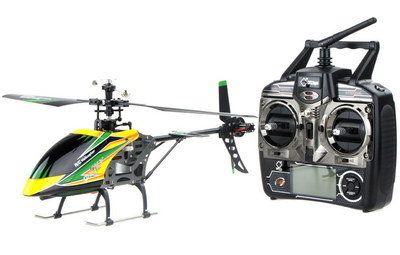 Remote Control Helicopter With Black Command Box