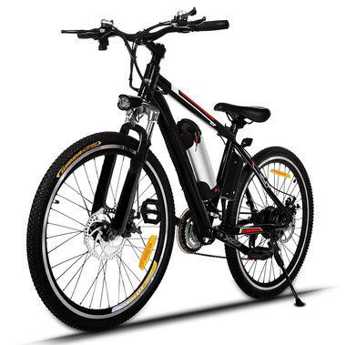 Black E-MTB With Removable Battery