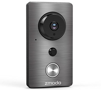 Wireless Doorbell Camera PIR In Polished Steel