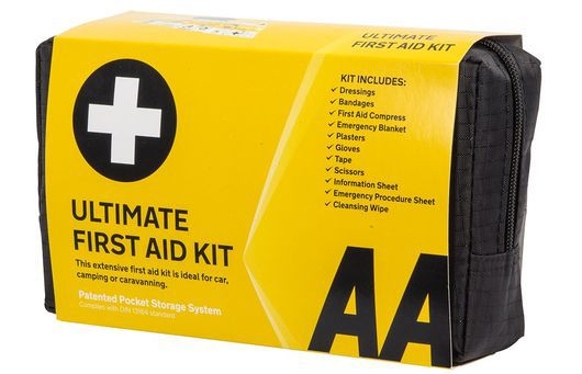First Aid Kit In Bright Yellow Case