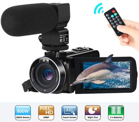 YouTube Camera Recorder With Small Black Remote