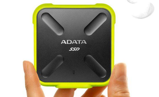 SSD 1TB External Drive In Yellow And Black