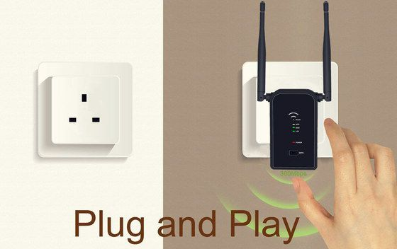 WiFi Range Extender With Black Exterior