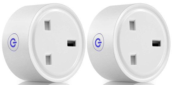2 Round Smart App Controlled Plugs In White
