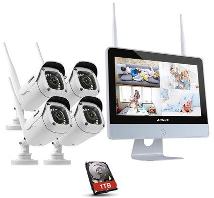 IP Network Cameras In White Finish
