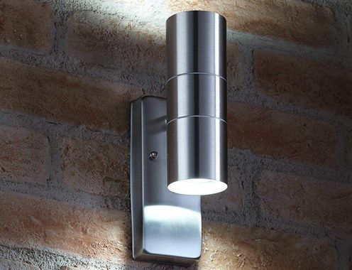 Dusk Till Dawn Wall Light In Polished Finish