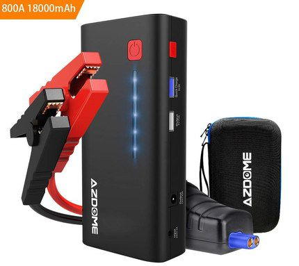 Car Jump Starter Power Bank With Black Carry Bag