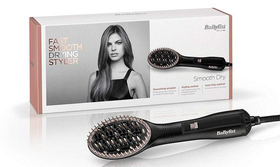 Hot Brush Hair Styler In Black With White Box