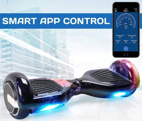 Black Hoverboard With LED And Speaker