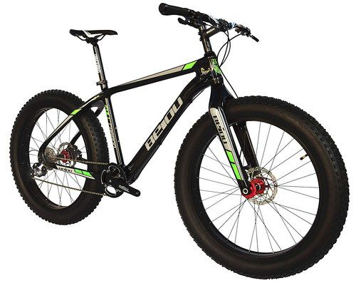 Fat Mountain Bike With Black Frame