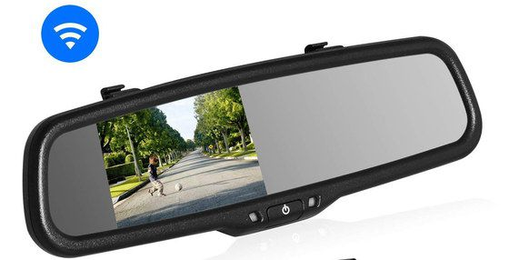 Reversing Mirror Dash Cam With Black Frame