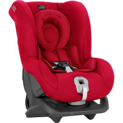 Extended Reclining Car Seat In Bright Red