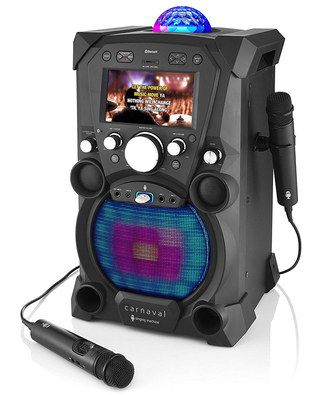 Black Karaoke System With Blue Ball