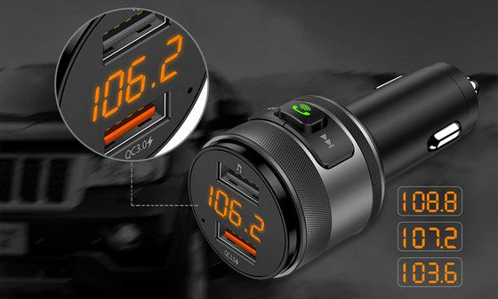 Car FM Transmitter With Big Call Button
