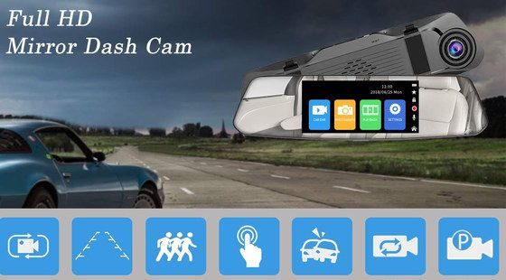 Mirror Dash-Cam In Car With Street View
