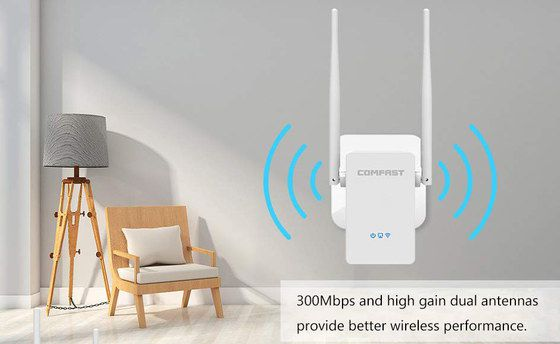 Plug In WiFi Booster With 2 Long Antennas