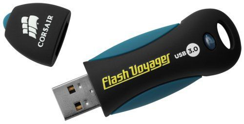 Small USB Flash Drive With Black Cap