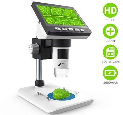 USB Microscope With Square LCD Display