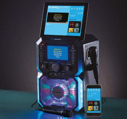 Bluetooth CD Karaoke Kit In Black With Smartphone