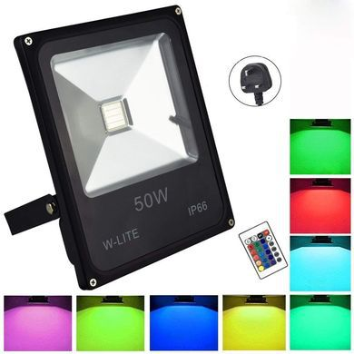 Outdoor LED Floodlight With Black Plug