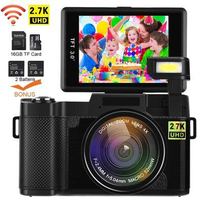 Videography Vlogging Cam With Square Flip Screen