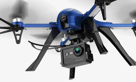RC Drone In Blue With Black Cam