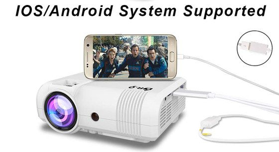 Mini Projector Plugged In Mobile Phone