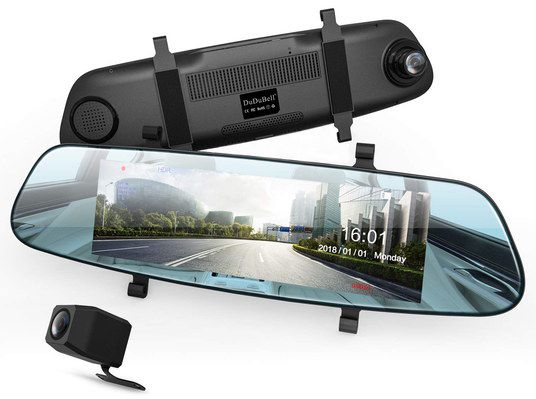 Media Rear View Dash Cam With Clips