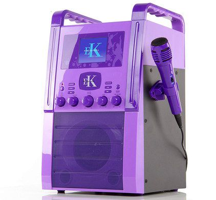 Portable Karaoke Machine With Mic On Side