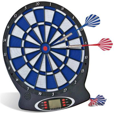 White And Blue Electronic Wall Dartboard