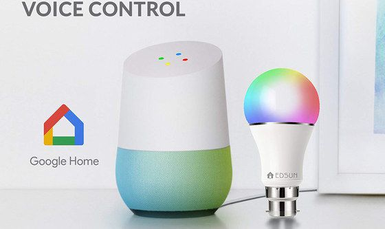 WiFi Light Bulb With Google Home Voice Speaker