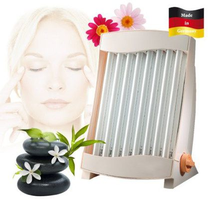 Facial Tanning Lamp With White Exterior