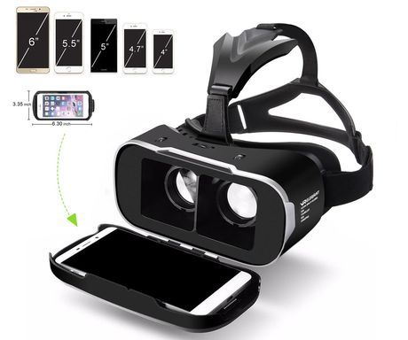 VR Glasses With White Smartphone