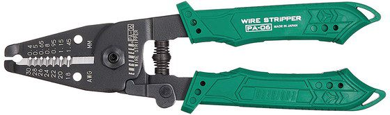 Electric Wire Stripper In Green And Black