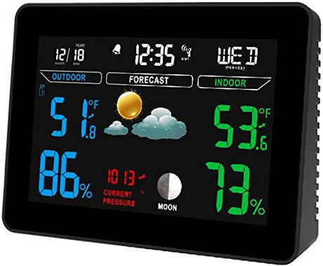 Wireless Weather Station Showing Forecast