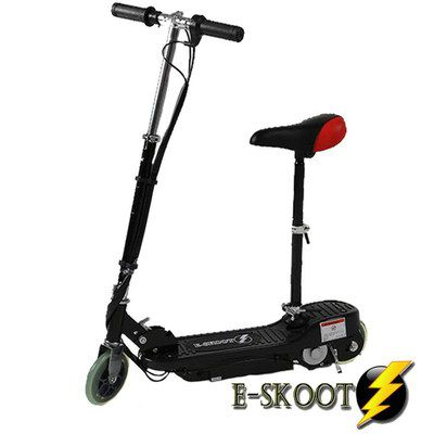 Kids E-Scooter With Red Black Seat
