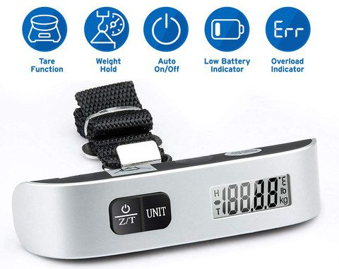 Luggage Weight Scale In Polished Steel