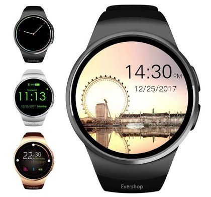 Round Shaped Smartwatch With Steel Edge