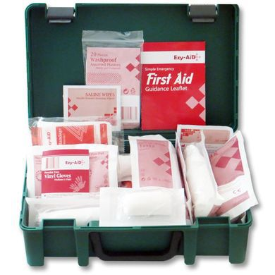 First Aid Box In Strong Green Plastic