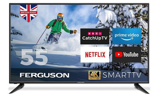 Large Smart TV With PRIME Logo