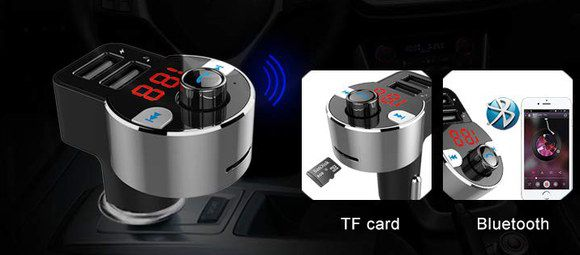 Car Bluetooth Receiver Kit With Red Digit LCD