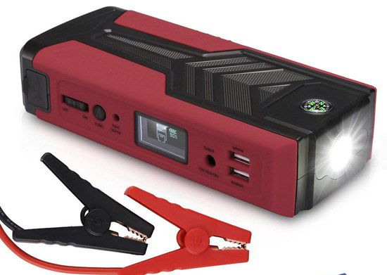 Car Starter Jump Power Bank In Red And Black