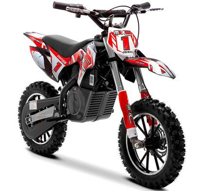 Electric Dirt Bike In Red And White
