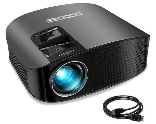 Portable Projector With Black Cable